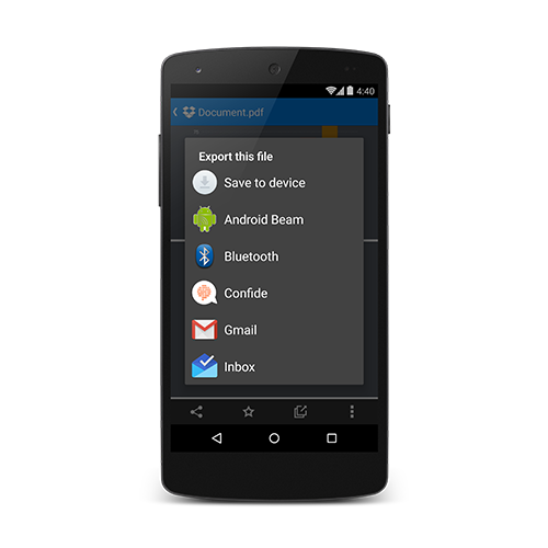 Confide Android App Screenshot